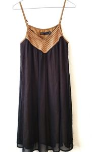 Gentle Fawn Black and Brown Sundress